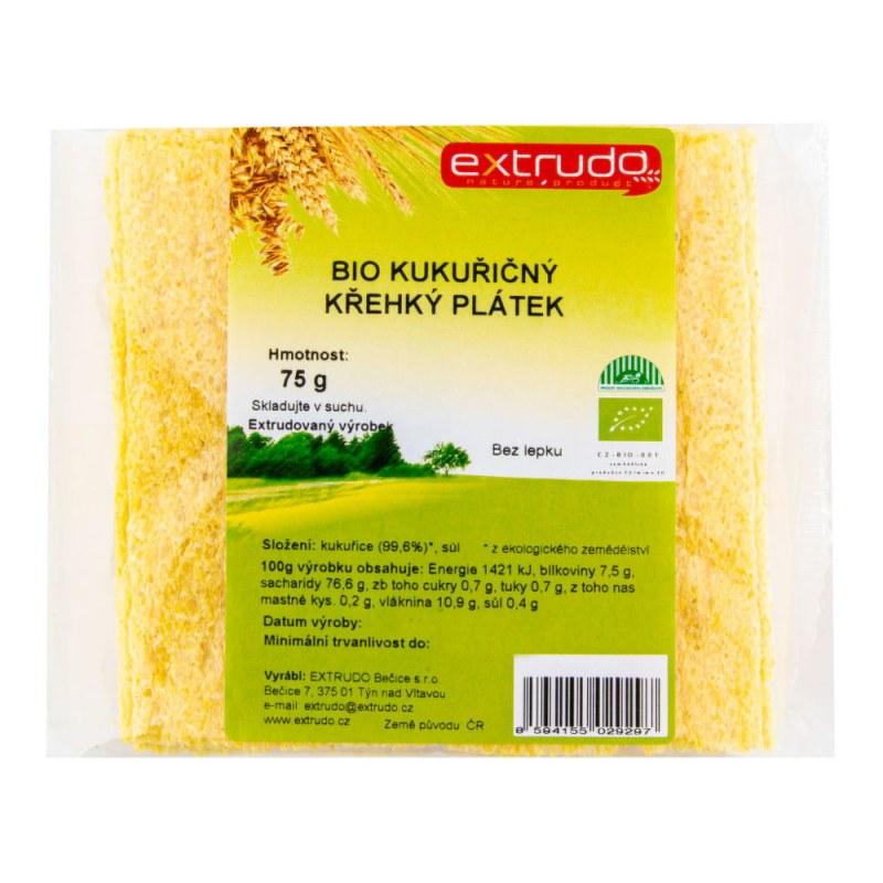 Chlebíček kukuřičný křupavý bezlepkový 75 g BIO EXTRUDO - Zdravá výživa a biopotraviny Něco na zub Slané Chlebíčky, knackebroty