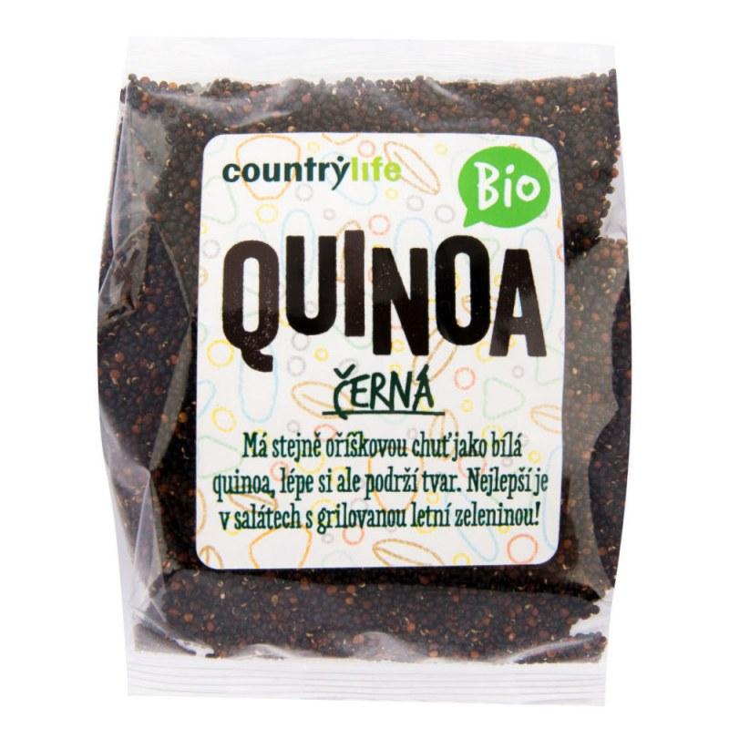 Quinoa černá 250g BIO COUNTRYLIFE - Zdravá výživa a biopotraviny Rýže, těstoviny, vločky a jiné obiloviny Nezpracované obiloviny