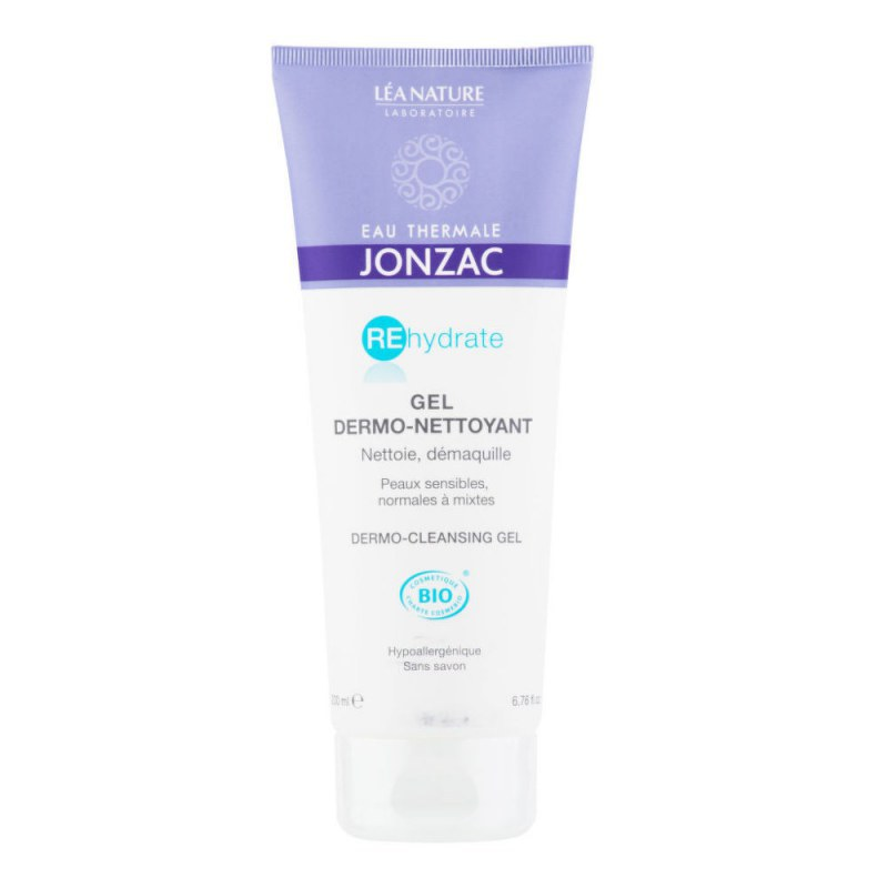 Gel dermo-čisticí REHYDRATE 200 ml BIO JONZAC - Přírodní kosmetika Francie, USA Pleťová kosmetika Čištění pleti