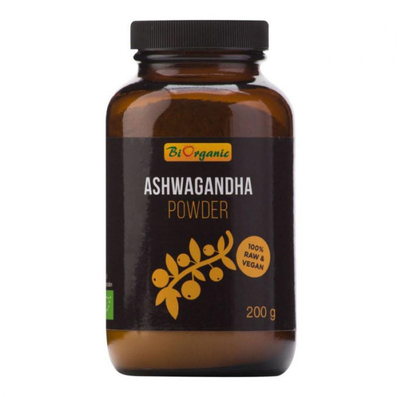 Ashwagandha prášek 200 g BIO BIORGANIC - Zdravá výživa a biopotraviny Superpotraviny a doplňky stravy