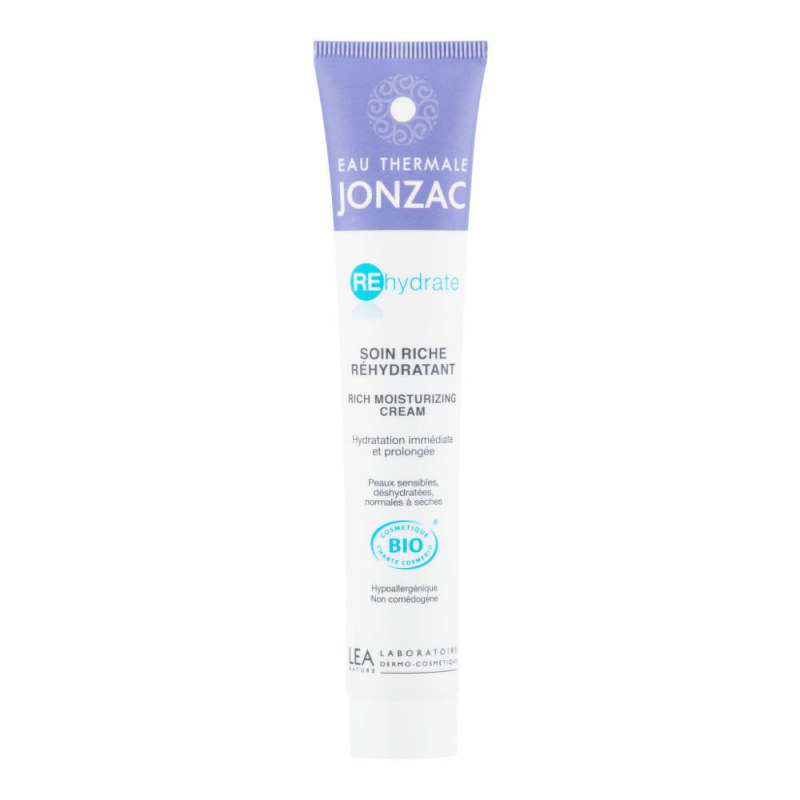 Krém bohatě hydratující REHYDRATE 50 ml BIO JONZAC - Přírodní kosmetika Francie, USA Pleťová kosmetika Pleťové krémy a gely