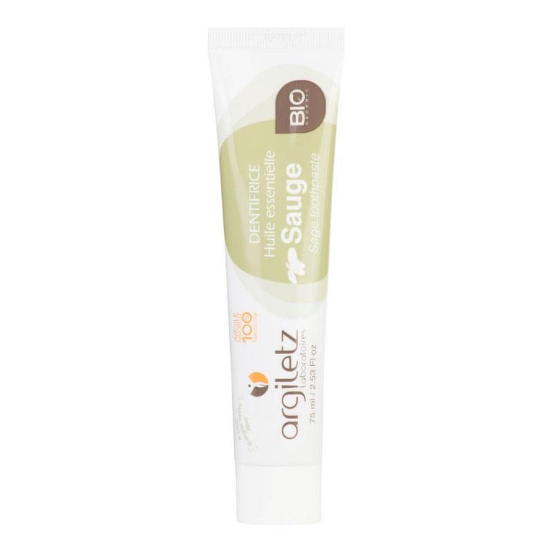 Zubní pasta se zeleným jílem šalvěj 75 ml BIO ARGILETZ - Přírodní kosmetika Francie, USA Ústní hygiena Zubní pasty