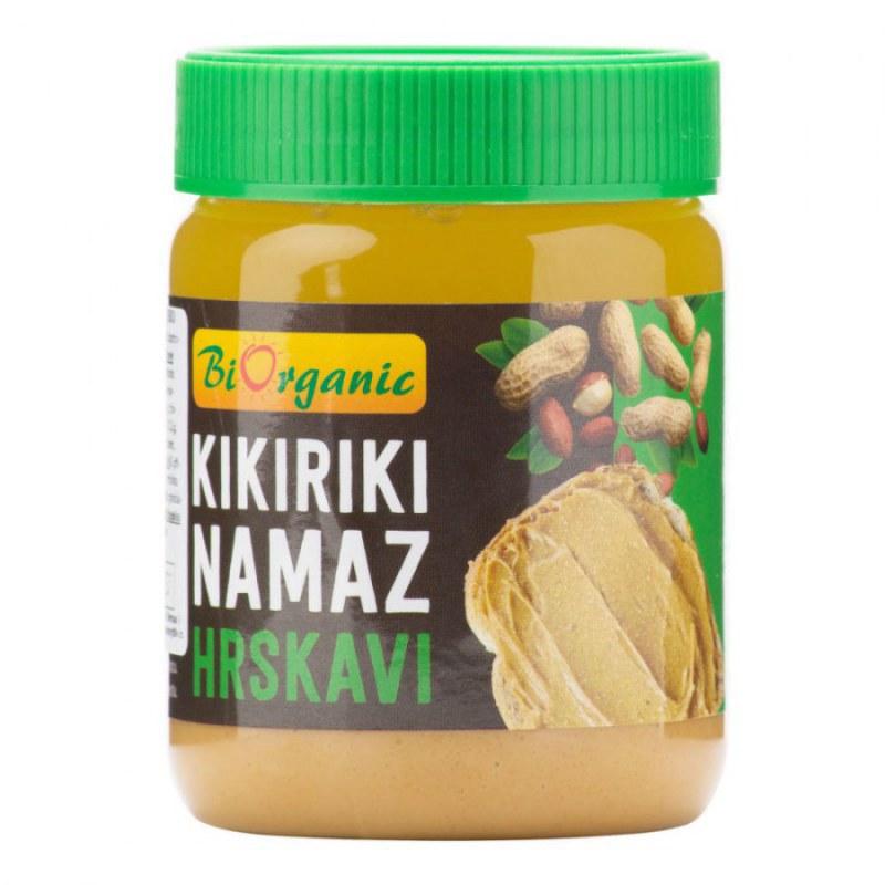 Krém arašídový s kousky 340g BIO BIORGANIC - Zdravá výživa a biopotraviny Pomázanky, paštiky, džemy Pomázanky z ořechů a semínek
