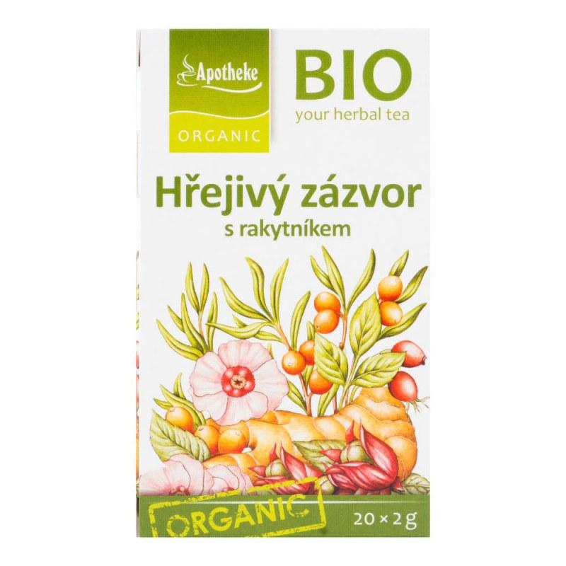Čaj hřejivý zázvor s rakytníkem 40g BIO MEDIATE - Zdravá výživa a biopotraviny Zdravé ovocné a zeleninové nápoje, čaje Čaje