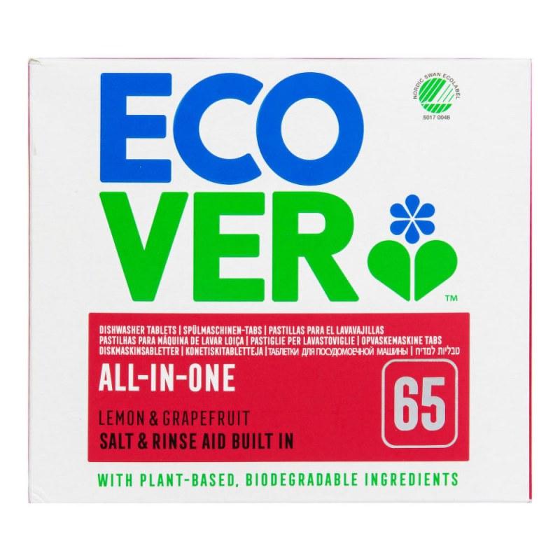 ECOVER tablety do myčky All in One Nordic Swan 1,3 kg - EKO drogerie - Ecover, Ecogenic Přípravky na mytí nádobí Přípravky do myčky nádobí