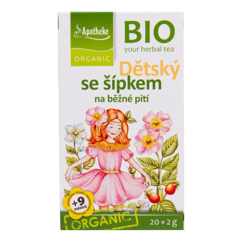 Čaj Dětský ovocný se šípkem 40g BIO MEDIATE - Zdravá výživa a biopotraviny Zdravé ovocné a zeleninové nápoje, čaje Čaje Čajové směsi