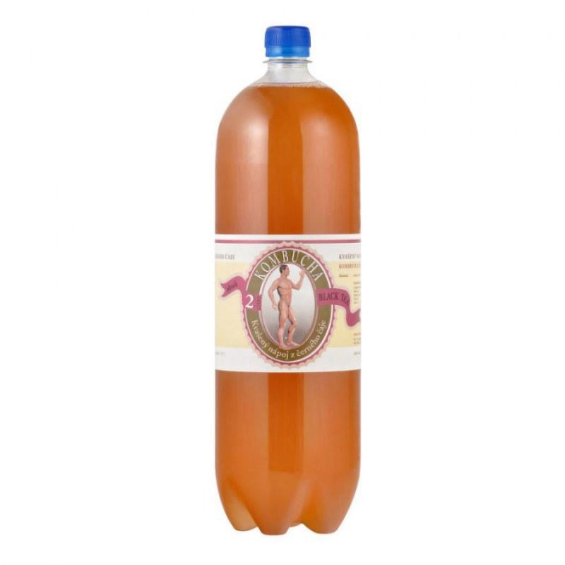 Kombucha černá 2 l STEVIKOM - Zdravá výživa a biopotraviny Zdravé ovocné a zeleninové nápoje, čaje Zdravé přírodní nápoje Kombuchy