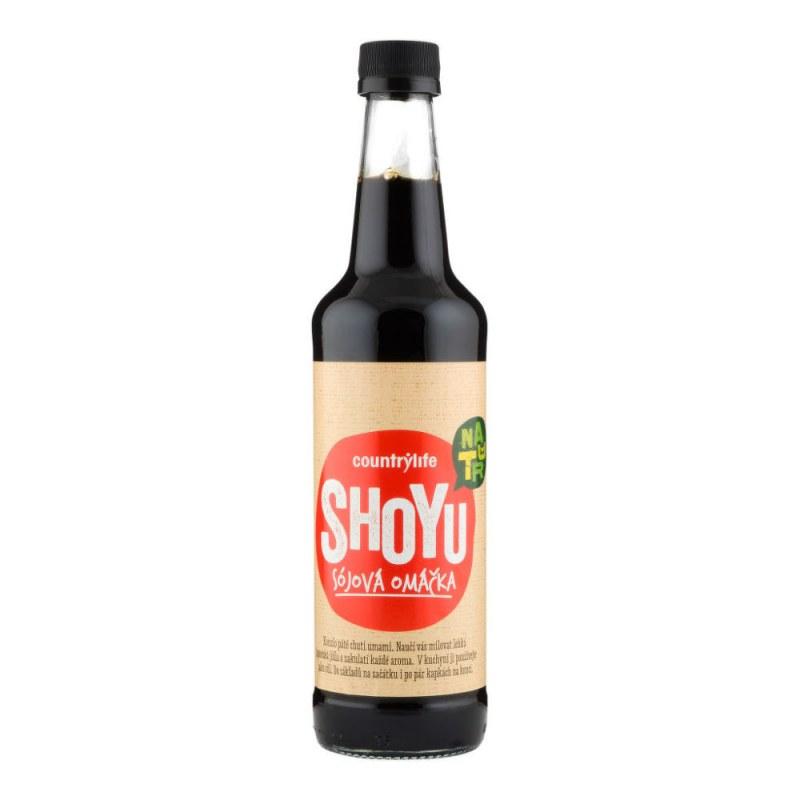 Shoyu sójová omáčka 500ml COUNTRYLIFE - Zdravá výživa a biopotraviny Ochucovadla Shoyu, tamari, miso, umeboshi