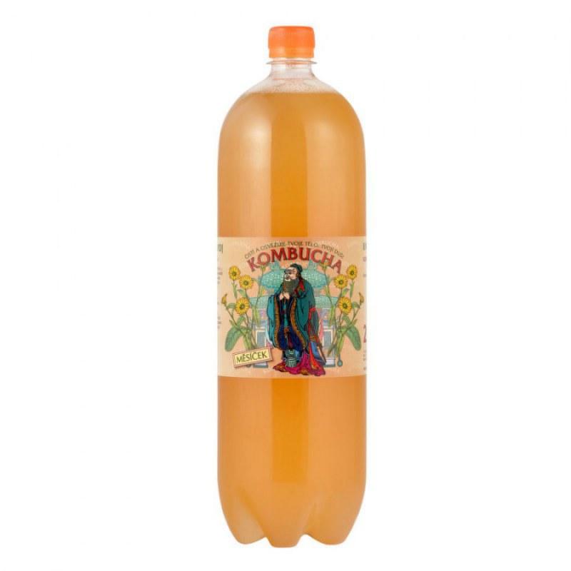 Kombucha měsíček 2 l STEVIKOM - Zdravá výživa a biopotraviny Zdravé ovocné a zeleninové nápoje, čaje Zdravé přírodní nápoje Kombuchy