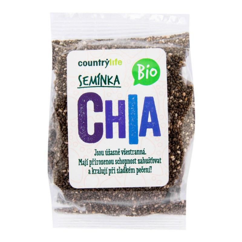 Chia semínka 100g BIO COUNTRYLIFE - Zdravá výživa a biopotraviny Ořechy, sušené ovoce, semínka Semínka