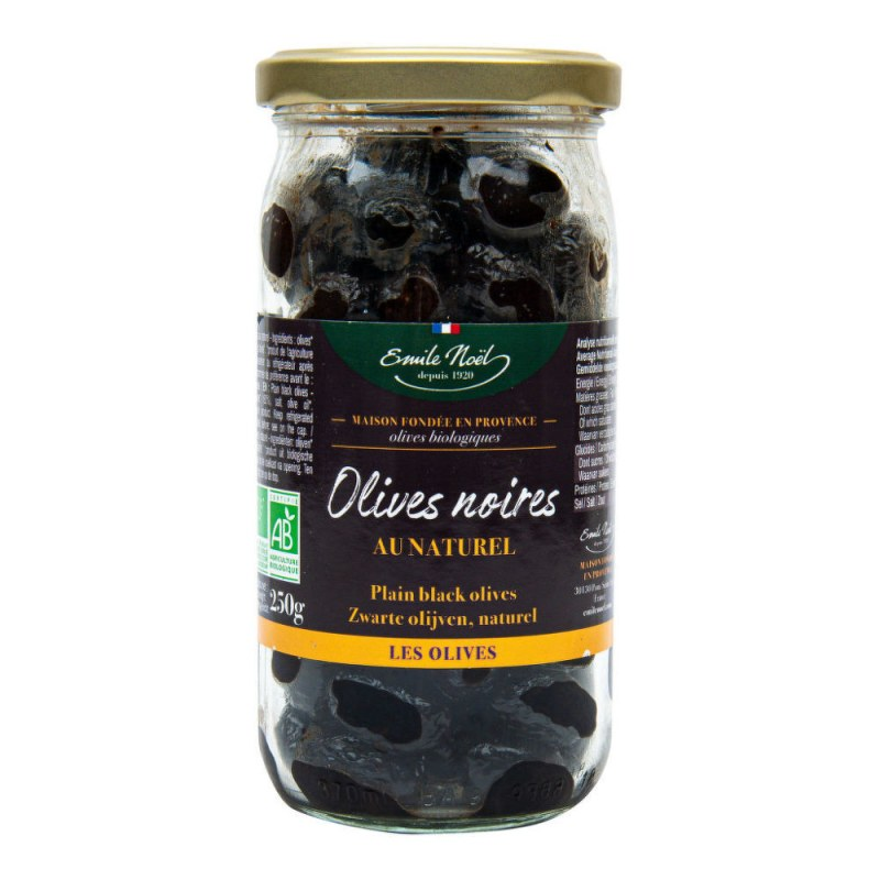 Olivy černé 250g BIO EMILENOËL - Zdravá výživa a biopotraviny Ochucovadla Sušené houby a rajčata, olivy
