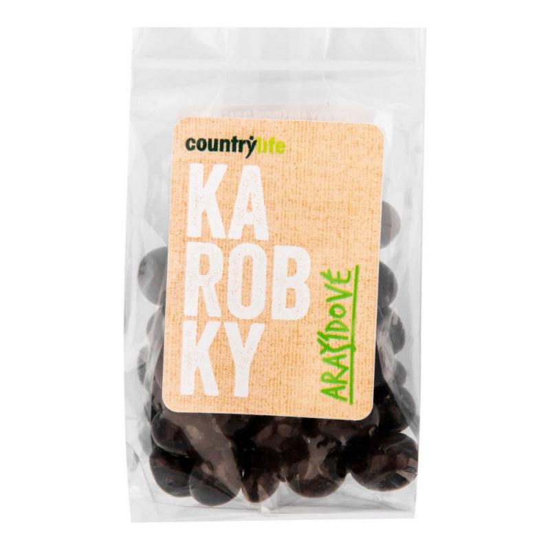 Karobky arašídové 100 g COUNTRY LIFE - Zdravá výživa a biopotraviny Ořechy, sušené ovoce, semínka Sušené ovoce Sušené plody s polevou