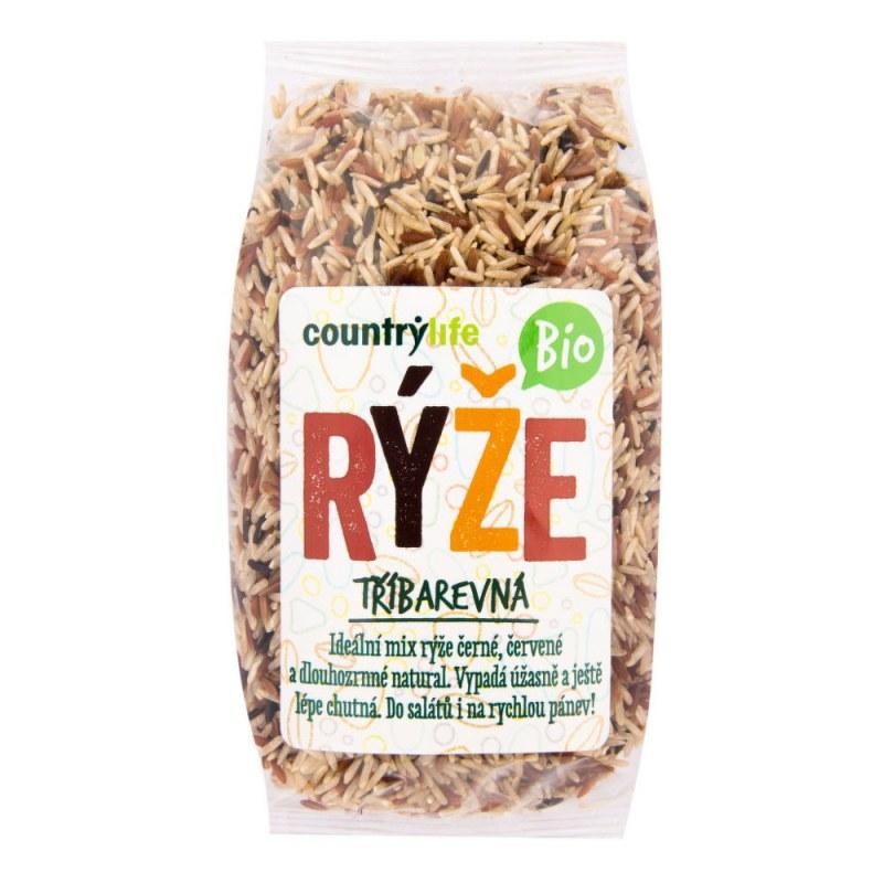 Rýže tříbarevná 500g BIO COUNTRYLIFE - Zdravá výživa a biopotraviny Rýže, těstoviny, vločky a jiné obiloviny Rýže
