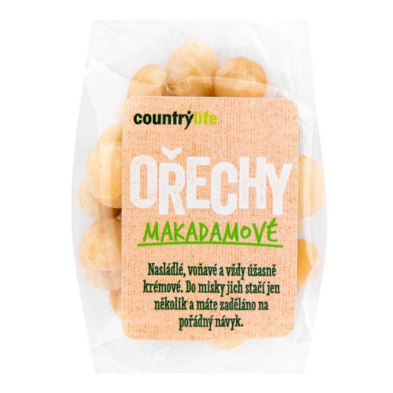 Makadamové ořechy 80g COUNTRYLIFE - Zdravá výživa a biopotraviny Ořechy, sušené ovoce, semínka Sušené ovoce Sušené plody s polevou