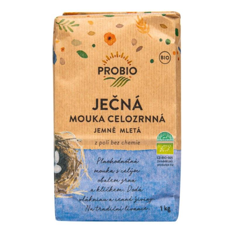 Mouka ječná celozrnná jemně mletá 1kg BIO PROBIO - Zdravá výživa a biopotraviny Rýže, těstoviny, vločky a jiné obiloviny Mouky, krupice, strouhanka
