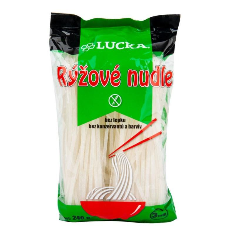 Těstoviny nudle rýžové 3mm bezlepkové 240g LUCKA - Zdravá výživa a biopotraviny Rýže, těstoviny, vločky a jiné obiloviny Těstoviny, kuskus, bulgur