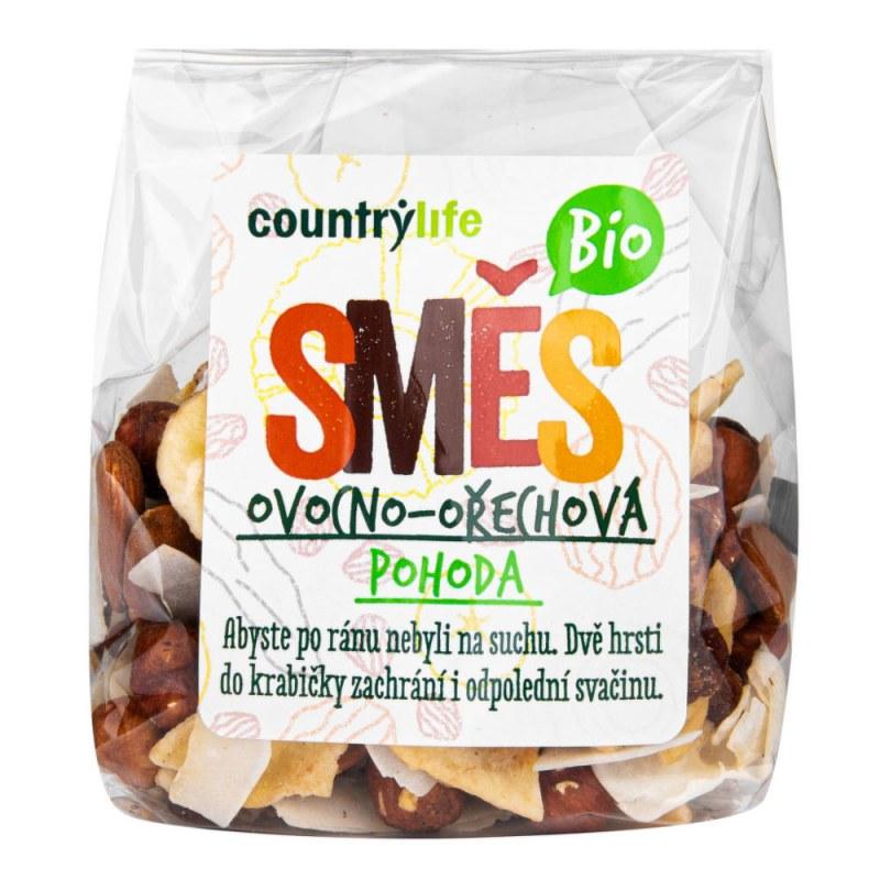 Směs ovocno-ořechová POHODA 150 g BIO COUNTRY LIFE - Zdravá výživa a biopotraviny Ořechy, sušené ovoce, semínka Sušené ovoce Ovocné a ořechovo-ovocné směsi