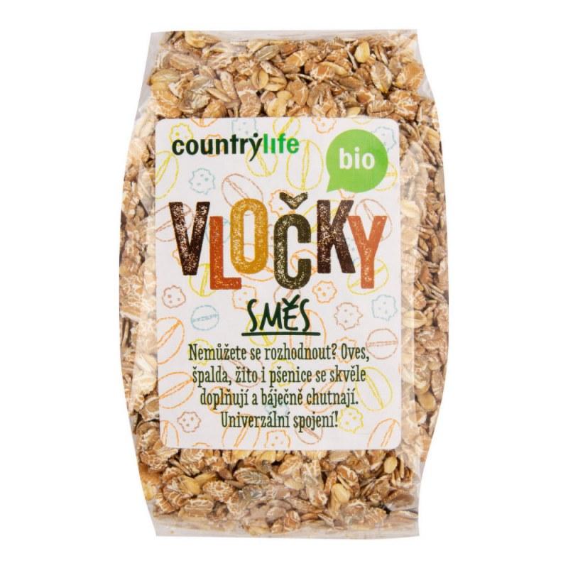 Směs vloček 300g BIO COUNTRYLIFE - Zdravá výživa a biopotraviny Rýže, těstoviny, vločky a jiné obiloviny Vločky, müsli, lupínky