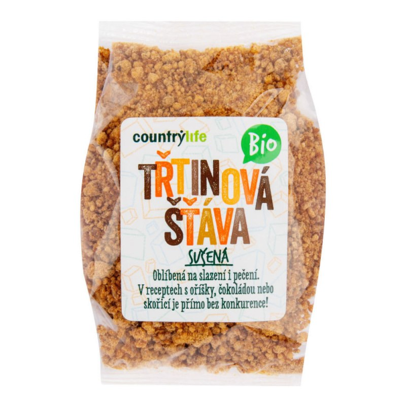 Třtinová šťáva sušená 250g BIO COUNTRYLIFE - Zdravá výživa a biopotraviny Med, melasa a další sladidla Cukr