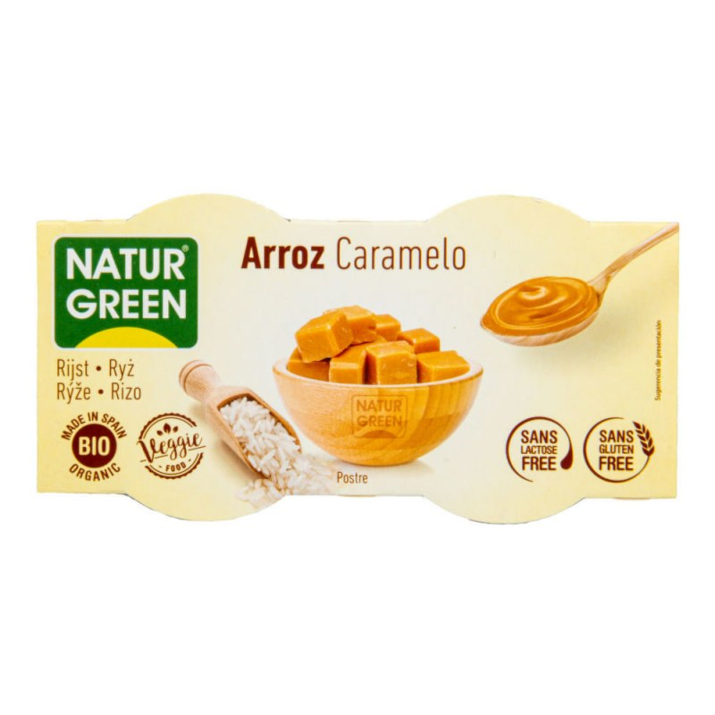 Dezert rýžový s karamelem 2x125g BIO NATURGREEN - Zdravá výživa a biopotraviny Rostlinná mléka a dezerty Rýžová mléka a dezerty