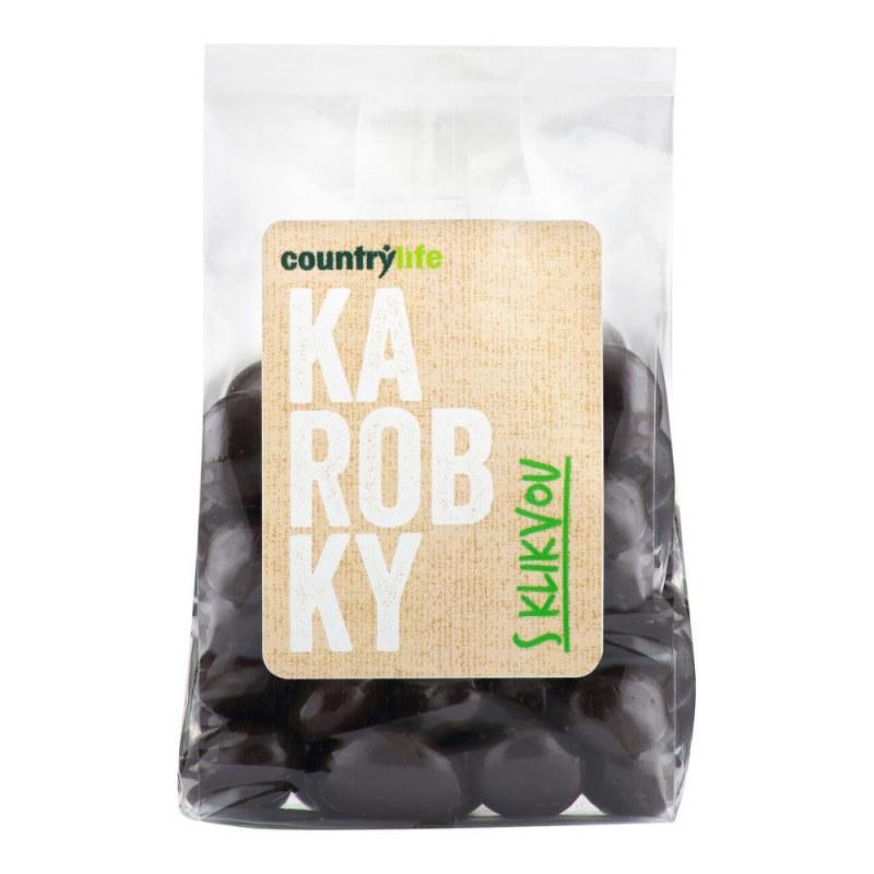 Karobky s klikvou 100 g COUNTRY LIFE - Zdravá výživa a biopotraviny Ořechy, sušené ovoce, semínka Sušené ovoce Sušené plody s polevou
