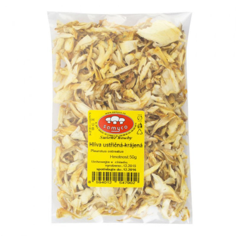 Houby sušené hlíva ústřičná 50g SAMYCO - Zdravá výživa a biopotraviny Ochucovadla Sušené houby a rajčata, olivy