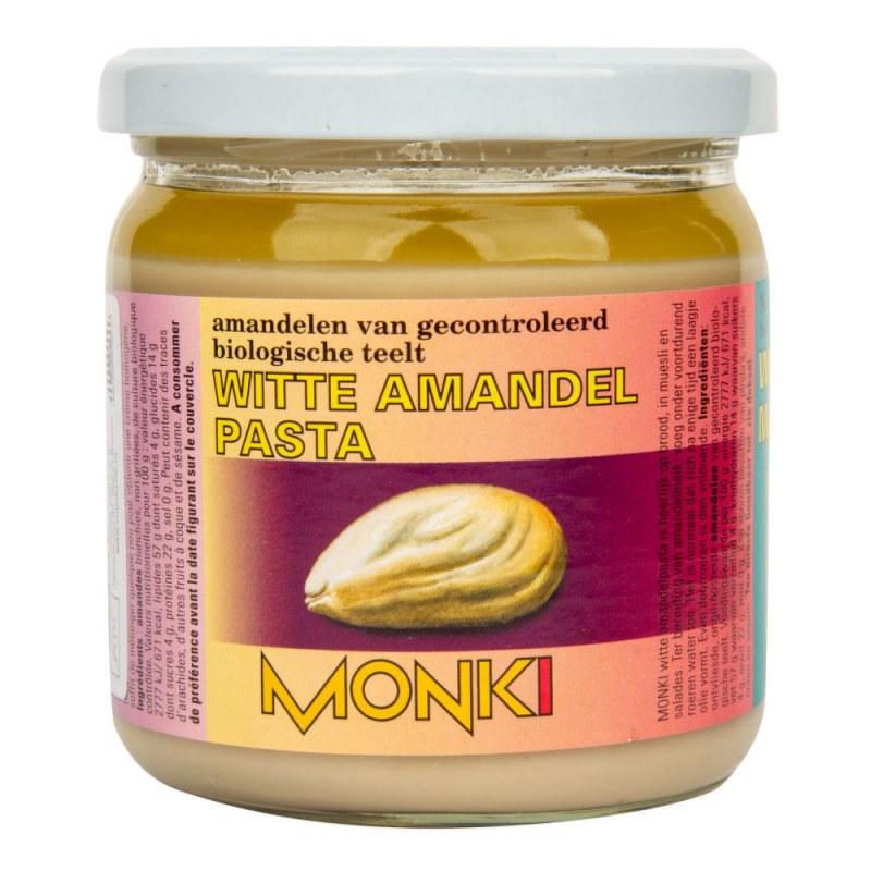 Krém z loupaných mandlí 330g BIO MONKI - Zdravá výživa a biopotraviny Pomázanky, paštiky, džemy Pomázanky z ořechů a semínek