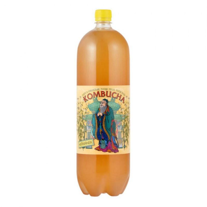 Kombucha heřmánek 2 l STEVIKOM - Zdravá výživa a biopotraviny Zdravé ovocné a zeleninové nápoje, čaje Zdravé přírodní nápoje Kombuchy