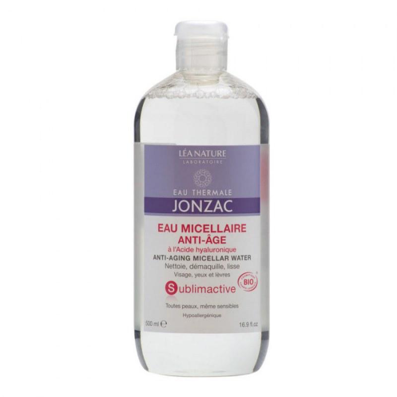 Voda micelární anti-age SUBLIMACTIVE 500 ml BIO JONZAC - Přírodní kosmetika Francie, USA Pleťová kosmetika Čištění pleti