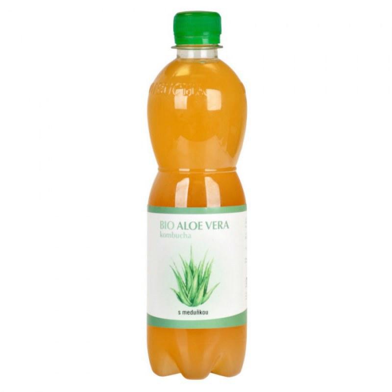 Kombucha Aloe Vera s meduňkou 500 ml BIO STEVIKOM - Zdravá výživa a biopotraviny Zdravé ovocné a zeleninové nápoje, čaje Zdravé přírodní nápoje Kombuchy