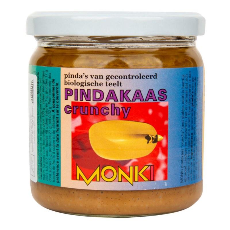 Krém arašídový s kousky 330g BIO MONKI - Zdravá výživa a biopotraviny Pomázanky, paštiky, džemy Pomázanky z ořechů a semínek
