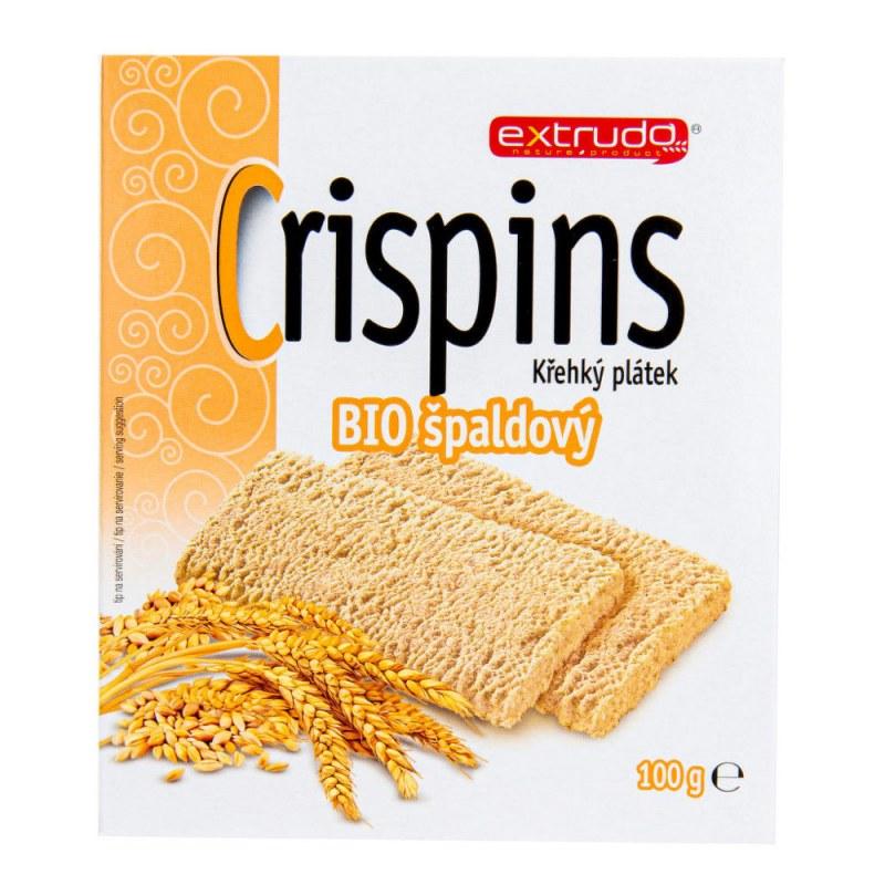 Chlebíček vícezrnný špaldový Crispins 100 g BIO EXTRUDO - Zdravá výživa a biopotraviny Něco na zub Slané Chlebíčky, knackebroty