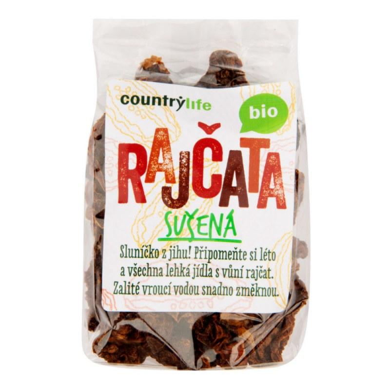 Rajčata sušená 100g BIO COUNTRY LIFE - Zdravá výživa a biopotraviny Ochucovadla Sušené houby a rajčata, olivy