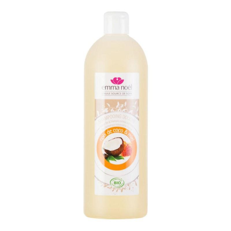 Šampon na tělo a vlasy med-kokos 1 l BIO EMMA NOËL - Přírodní kosmetika Francie, USA Vlasová kosmetika Šampóny