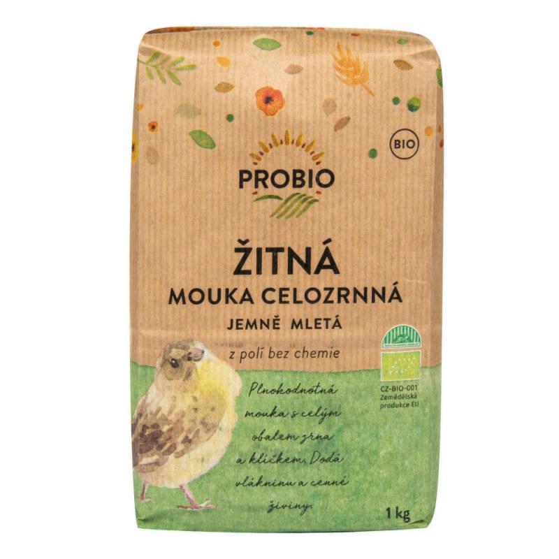 Mouka žitná celozrnná jemně mletá 1kg BIO PROBIO - Zdravá výživa a biopotraviny Rýže, těstoviny, vločky a jiné obiloviny Mouky, krupice, strouhanka