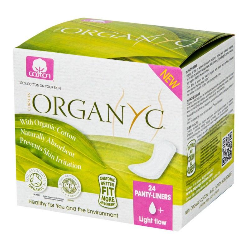 Dámské vložky slipové mini 24 ks BIO bavlna ORGANYC - Přírodní kosmetika Francie, USA Menstruační kalíšek, dámská hygiena