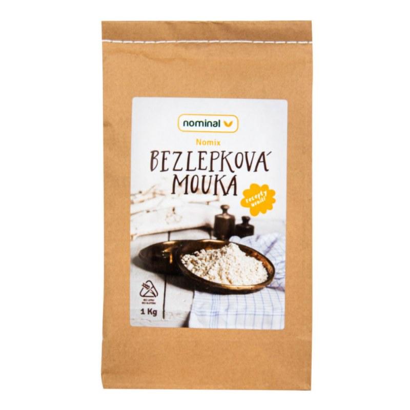 Směs moučná NOMIX bezlepková 1kg NOMINAL - Zdravá výživa a biopotraviny Rýže, těstoviny, vločky a jiné obiloviny Mouky, krupice, strouhanka