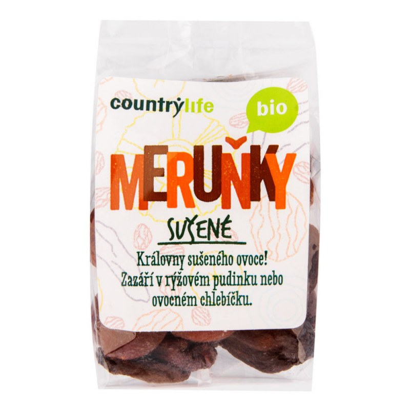 Meruňky sušené 200g BIO COUNTRYLIFE - Zdravá výživa a biopotraviny Ořechy, sušené ovoce, semínka Sušené ovoce Jednodruhové sušené ovoce