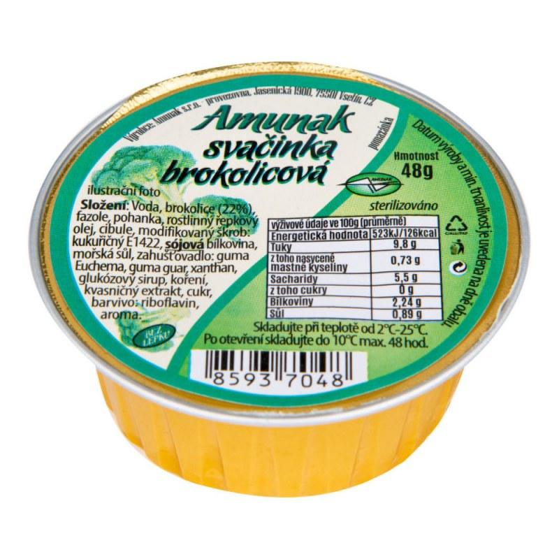 Svačinka brokolicová 48g AMUNAK - Zdravá výživa a biopotraviny Pomázanky, paštiky, džemy Slané pomazánky