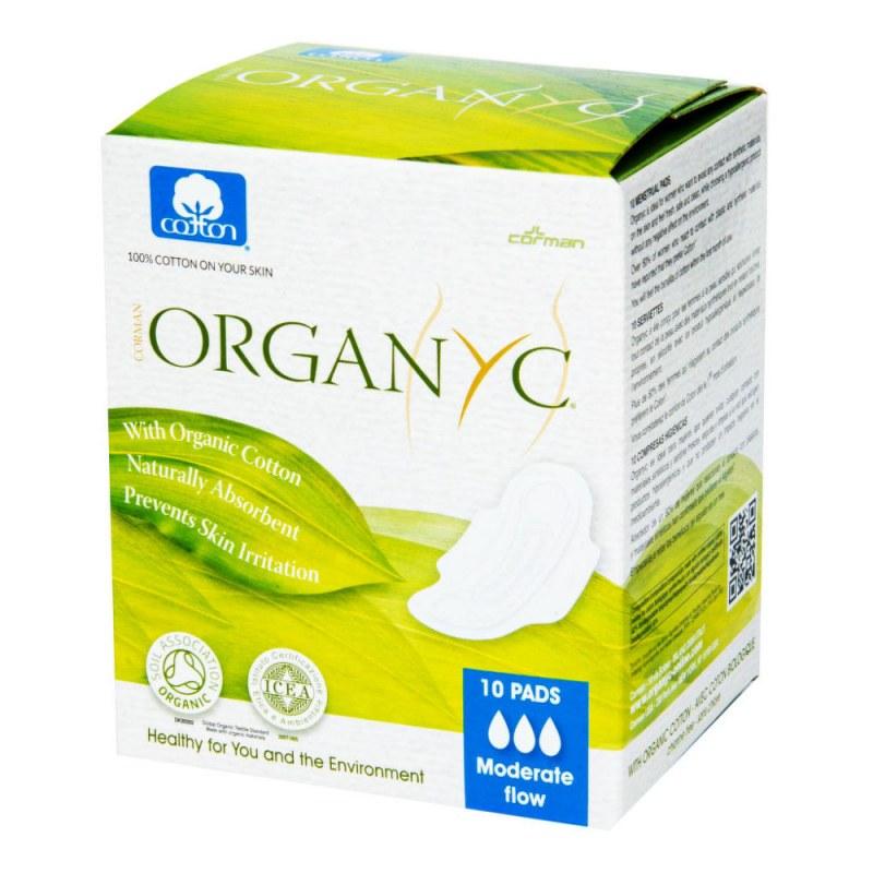 Dámské vložky s křidélky denní 10 ks BIO bavlna ORGANYC - Přírodní kosmetika Francie, USA Menstruační kalíšek, dámská hygiena