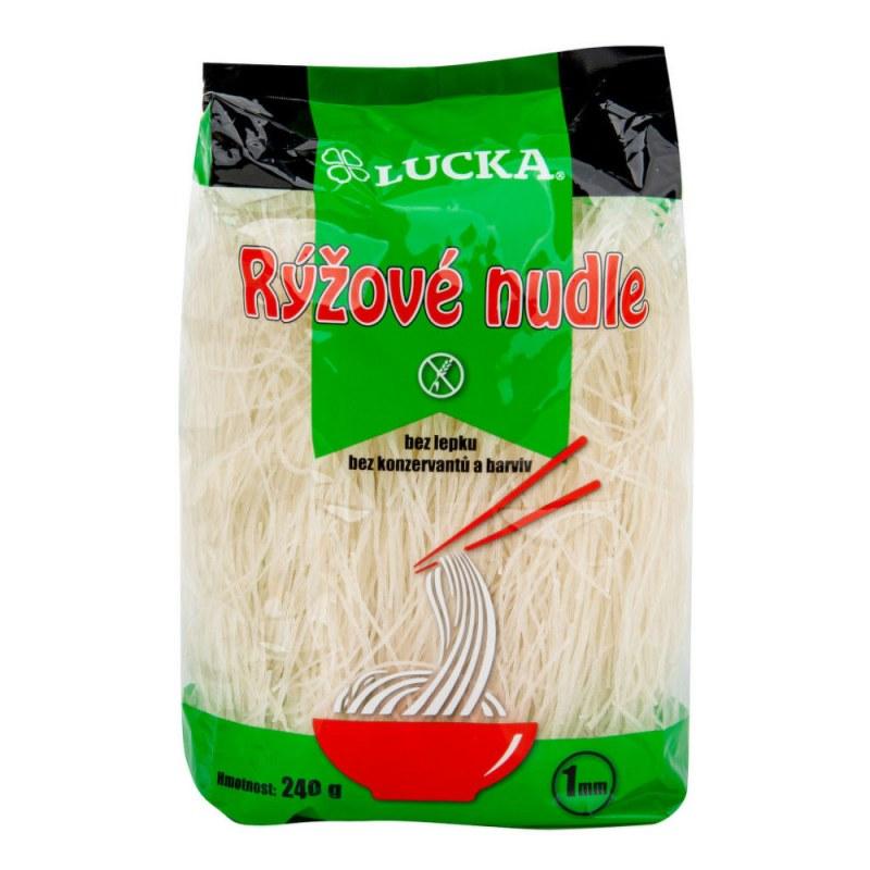 Těstoviny nudle rýžové 1 mm bezlepkové 240g LUCKA - Zdravá výživa a biopotraviny Rýže, těstoviny, vločky a jiné obiloviny Těstoviny, kuskus, bulgur