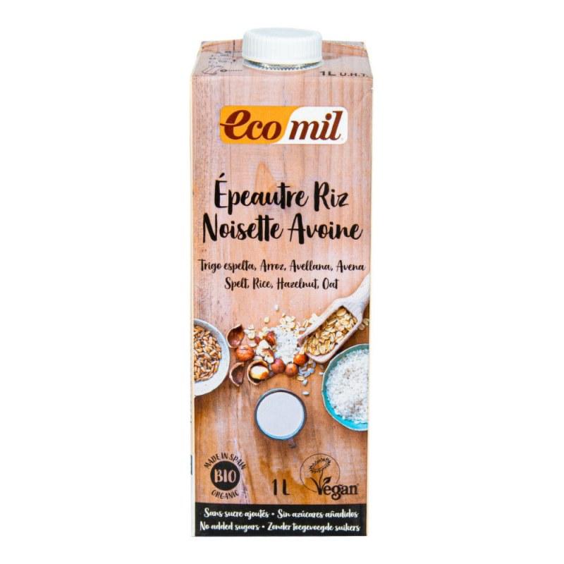 Nápoj špaldovo rýžový s ovsem a lískovými ořechy 1 l BIO ECOMIL - Zdravá výživa a biopotraviny Rostlinná mléka a dezerty Obilná mléka a dezerty