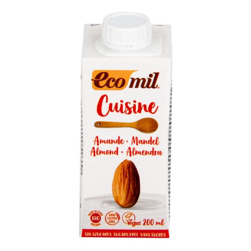Mandlová alternativa smetany nature 9% tuku 200ml BIO ECOMIL - Zdravá výživa a biopotraviny Rostlinná mléka a dezerty Rostlinné smetany