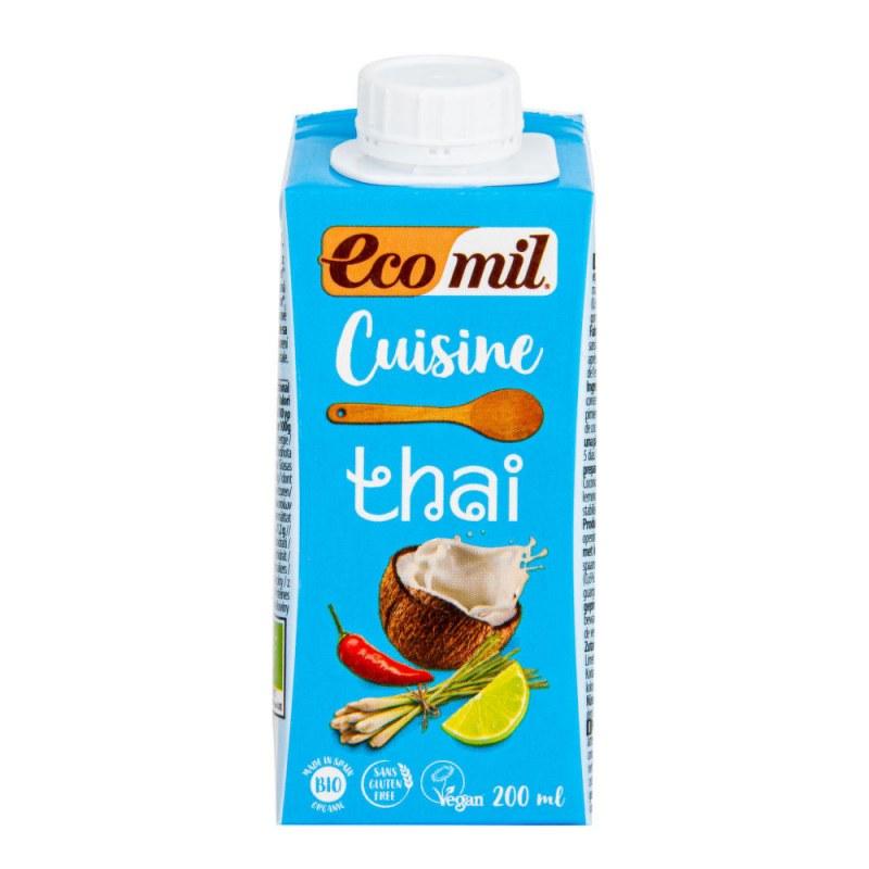 Kokosová alternativa smetany Thai 14% tuku 200ml BIO ECOMIL - Zdravá výživa a biopotraviny Rostlinná mléka a dezerty Rostlinné smetany