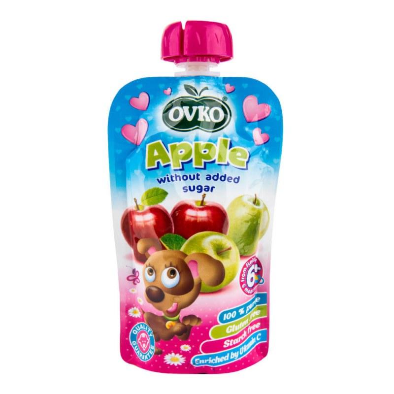 Příkrm jablko 120g OVKO - Zdravá výživa a biopotraviny Dětská výživa bez cukru a konzervantů