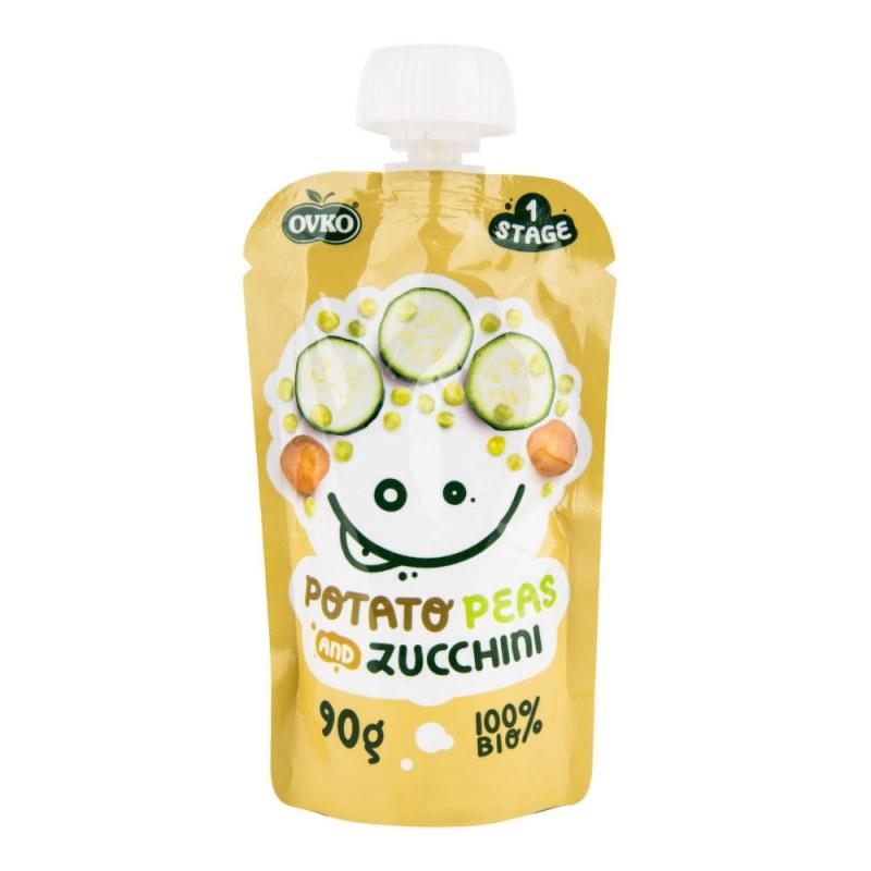 Příkrm brambory,hrášek,cuketa 90g BIO OVKO - Zdravá výživa a biopotraviny Dětská výživa bez cukru a konzervantů