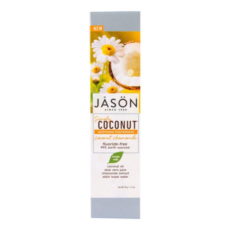 Zubní pasta simply coconut zklidňující s heřmánkem 119 g JASON - Přírodní kosmetika Francie, USA Ústní hygiena Zubní pasty