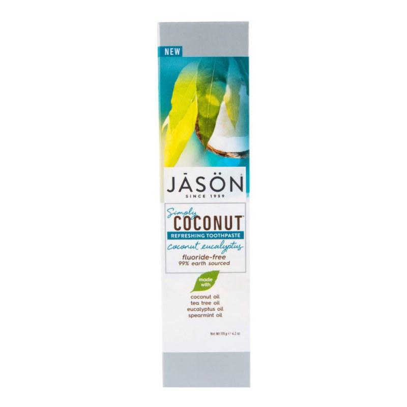 Zubní pasta simply coconut eukalyptus 119 g JASON - Přírodní kosmetika Francie, USA Ústní hygiena Zubní pasty