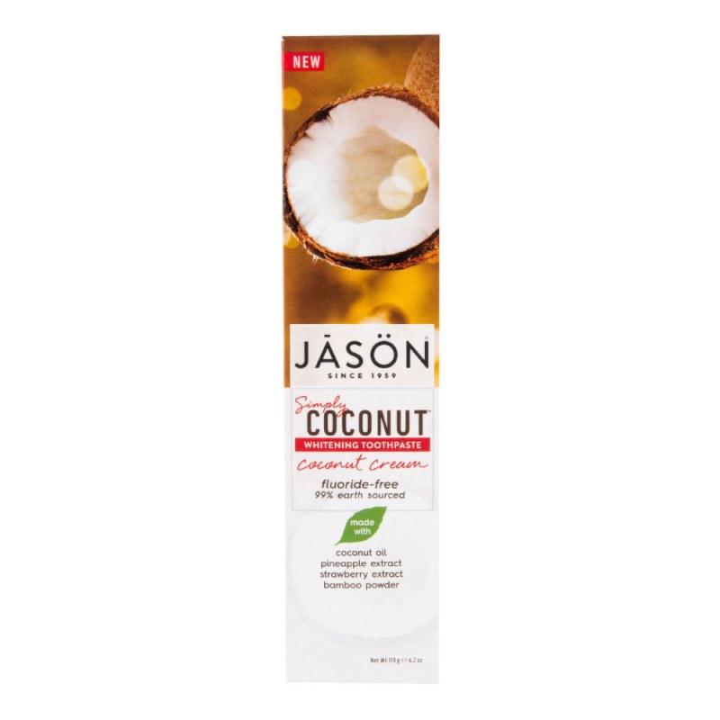 Zubní pasta simply coconut bělicí 119 g JASON - Přírodní kosmetika Francie, USA Ústní hygiena Zubní pasty