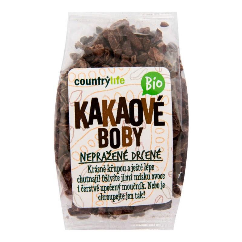 Kakaové boby nepražené drcené 100 g BIO COUNTRYLIFE - Zdravá výživa a biopotraviny Med, melasa a další sladidla Kakao, karob, vanilka